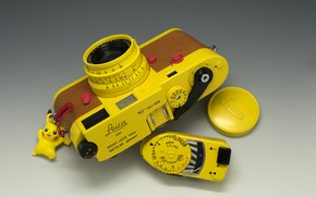 Picture yellow, style, background, the camera, Leica