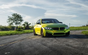 Picture BMW, Yellow, F80, Sight, LED