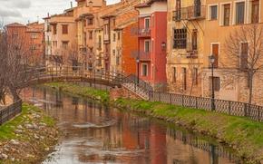 Picture Home, The city, Channel, Building, Bridge, The bridge, Town, Canal