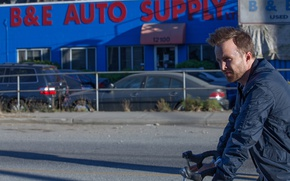 Picture bike, frame, jacket, Thriller, Aaron Paul, Aaron Paul, Come and Find Me, Find me if …