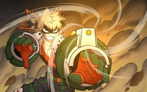 Wallpaper anime, Boku no Hero Academy, guy, art, My heroic academia, Bakusou Katsuki