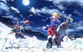 Picture background, art, guy, animal, final fantasy tactics