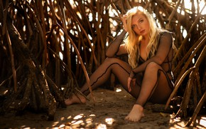 Picture look, pose, blonde, mangroves, Christopher Rankin