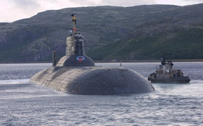 Picture boat, submarine, underwater, atomic, the project 941, Severstal