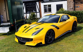 Wallpaper Ferrari, F12, yard, TDF