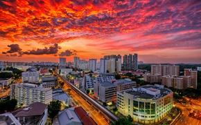 Picture Singapore, megapolis, Singapore, Bukit Merah