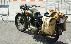 Picture motorcycle, military, times, second, world war