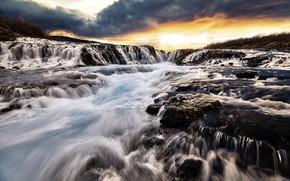 Picture river, stream, iceland, Bruarfoss Iceland
