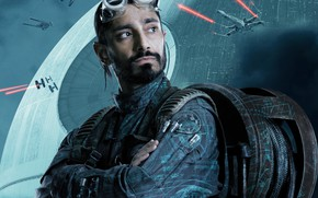 Wallpaper poster, Rogue One, Riz Ahmed, the cable, fiction, glasses, Rogue-one: Star wars. History, Riz Ahmed