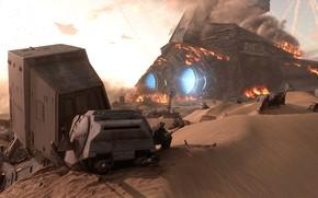 Picture desert, battle, shooter, Star Wars Battlefront, EA DICE