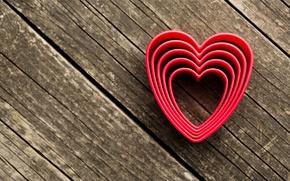 Wallpaper romantic, hearts, hearts, love, wood, valentine's day