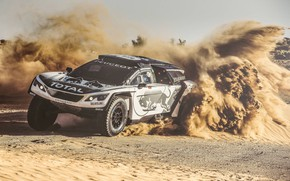 Picture Sand, Sport, Speed, Race, Skid, Peugeot, Lights, Red Bull, Rally, Rally, Sport, The front, Dune, …
