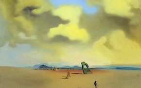 Picture surrealism, picture, Salvador Dali, Salvador Dali, The Ghost of the Night on the Beach