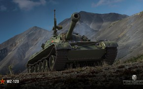 Wallpaper WZ-120, Wargaming, WoT, Chinese tank, World of Tanks