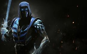 Picture fire, flame, sword, ice, game, Mortal Kombat, crossover, ken, blade, ninja, Sub Zero, Sub-Zero, martial ...