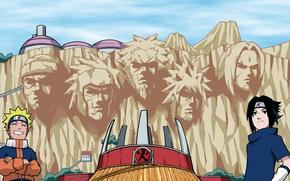 Picture Sasuke, Naruto, Sakura, ninja, team 7, shinobi, Kakashi, hitaiate, genin, jounin, kunoichi, kanji, Konohagakure no …