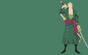 Picture green, Japan, sword, game, One Piece, pirate, anime, katana, sun, man, asian, manga, japanese, kimono, …