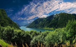 Wallpaper the sky, mountains, home, Italy, Italy, lake ...