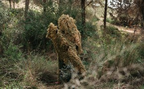 Wallpaper nature, camouflage, Sniper