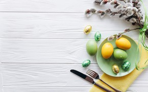 Picture eggs, spring, Easter, Holiday, Verba, spring, Easter, eggs, Holiday, top, Cutlery, Cutlery