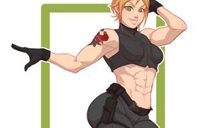 Picture ass, chest, girl, blonde, ass, art, mercenary, zoey Pryce