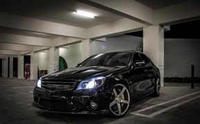 Picture Car, AMG, Black, Mercedes - Benz, C63