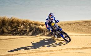 Wallpaper Sand, Speed, Motorcycle, Racer, Moto, Yamaha, Rally, Dakar, Dakar, Rally, Dune, Sands