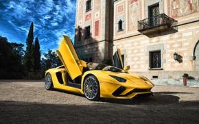 Picture Lamborghini, supercar, yellow, Aventador, Lamborghini, aventador