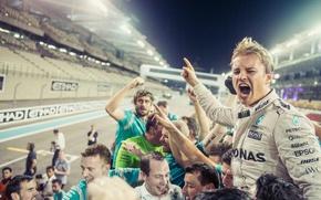 Picture Formula 1, Mercedes, Victory, Nico Rosberg, World Champion, celebrating