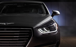 Picture headlight, Hyundai, front view, Special Edition, Genesis, Vanity Fair, G90, 2019
