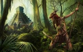 Wallpaper elf, the situation, art, pyramid, adventure, history, Illustrator, The Guardian, fantasy, Markus Stadlober