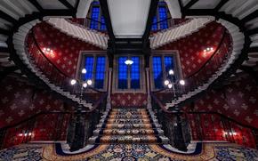 Picture England, London, ladder, the hotel, St. Pancras Renaissance