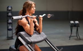 Picture female, workout, gym, arms