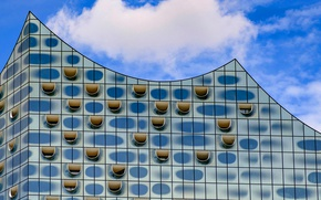 Picture the building, Germany, Hamburg, facade, the Elbe Philharmonic hall