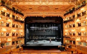 Picture scene, theatre, Opera house, Teatro La Fenice