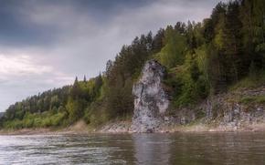 Picture Perm Krai, the stone-crybaby, the Chusovaya river, stone-Baiyun