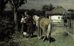 Wallpaper canvas, Nikolai Pimonenko, Ukrainian Night, oil, picture, date
