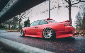 Picture red, Silvia, Nissan, Nissan Silvia, S14