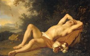 Picture tree, oil, picture, mythology, Ari de voys, Jacob's Dream