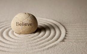 Wallpaper sand, stones, zen, believe, sand, stone