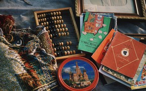 Picture books, Moscow, Russia, shawl, Peter, market, Russia, hobby