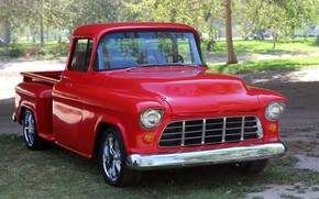 Picture Chevrolet, Red, Pickup, 1955