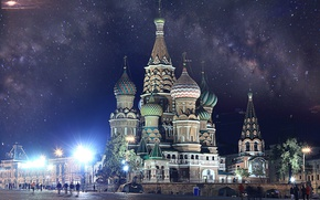 Wallpaper Moscow, The Kremlin, St. Basil's Cathedral, Russia, Moscow, Kremlin, Red Square