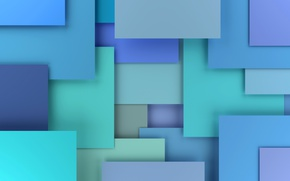 Picture 3D rendering, background, colorful, blue, geometry, design, abstract, geometric shapes