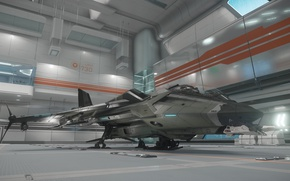 Wallpaper Gladius, station, starship, Star Citizen