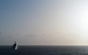 Picture sea, fog, ship