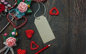 Picture love, rose, hearts, Holiday, Valentine's day, Decor