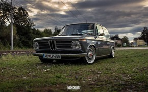 Wallpaper Mike Crawat Photography, BMW, Retro, MB-LP-836, BMW 2002, The front, Old, 2002, MBLP836, Auto, BMW ...