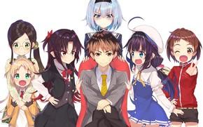 Wallpaper guy, art, characters, anime, girls