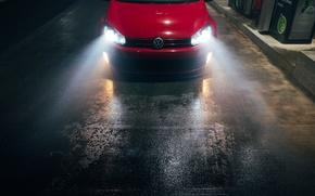Picture Volkswagen, Car, Night, Golf R, Low